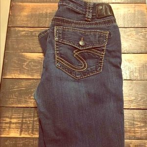 Silver Mid-Super Skinny Jeans! Women's Size 30/31;
